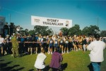 Start line – Hunters Hill Oval