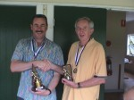 John Taylor (Handicap Champion), John Quigley (runner-up)
