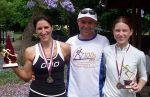 Sarah Trehy (Handicap Champion), Noel Annett, Beth Cardelli (runner-up)