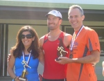 Rebekah Markey (runner-up), Chris Graham, Michael Sims (2011 Handicap Champion)