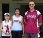 Ryleigh Markey (5km Handicap Champion), Rebekah, Brian