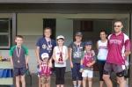 5km Monthly Handicap winners: Ben, Alistair, Ryleigh, Karen, Coen & Rebekah, Brian, Owen