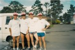 Last Rotor Run sponsored by IGA, 1998. Ted West, Michael Scicluna, Dr Alan Miller, Hugh Hodge